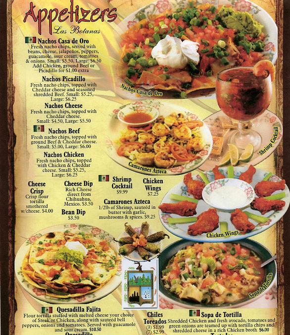 Mexican Restaurants Menu Cover